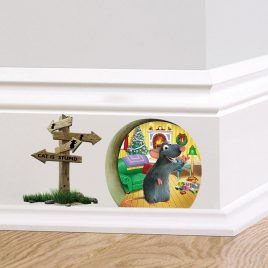 Hilarious 3D Mouse <br>Hole Wall Decal <br>Sticker for Home Decor