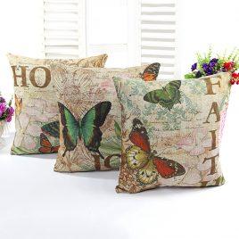 Vintage Linen <br>Cushion Cover <br>Joy Faith Hope