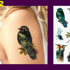 Elegant Life-Like 3D Body Art Temporary Waterproof Tattoos 29