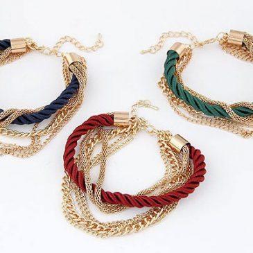 Bohemian Style Fashionable Multi-Chain Bracelet