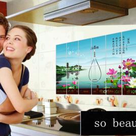 Kitchen Oriental <br>Decor Wall Stickers <br>Decals (23.6in x 35.4in)