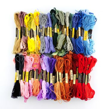 100 Skeins Various Colors Cross Stitch Cotton Embroidery Floss