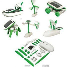 Homeschooling Solar Learning Kit 6 in 1 Solar Powered Robotic Toys