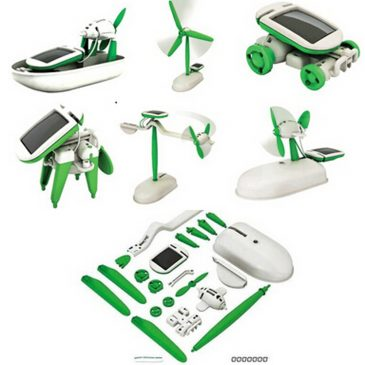 Homeschooling Solar Learning Kit 6 in 1 Solar Powered Robotic Toys