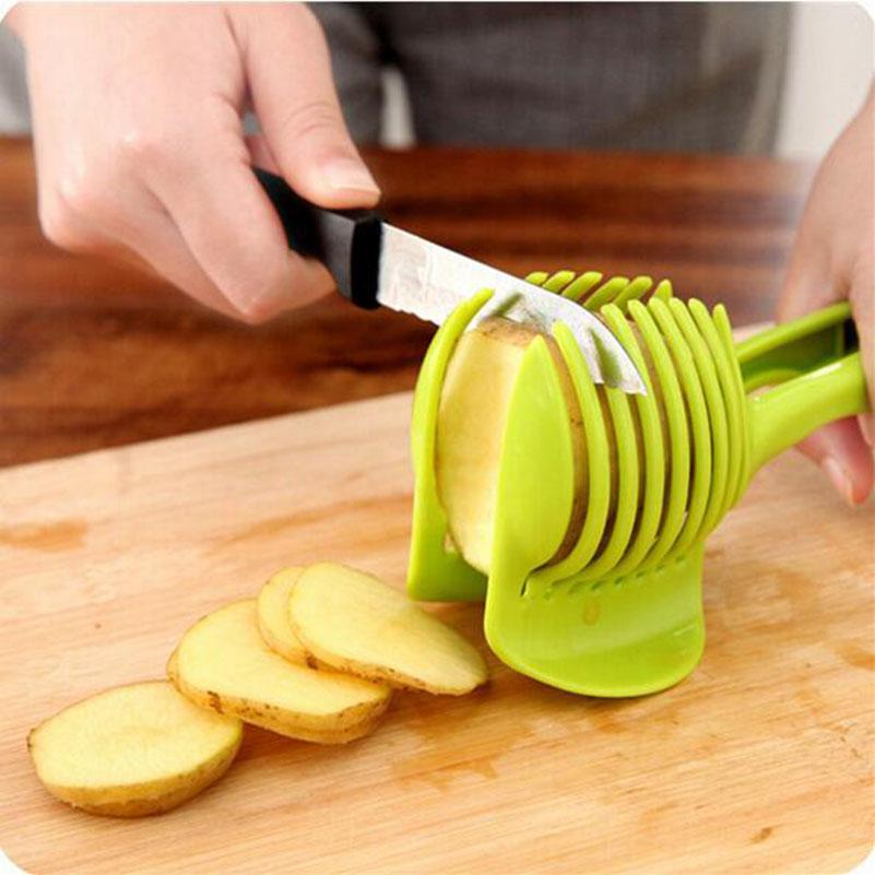 Plastic Tomato Lemon Fruit Slicer Guide Coolthingshere Com