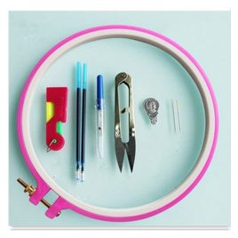 Cross Stitch Embroidery 19cm Ring Starter Kit