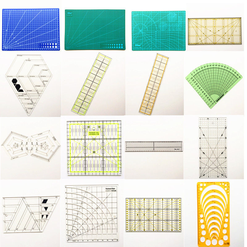 24 Quilting Tools Rulers Cutting Mats Cutters