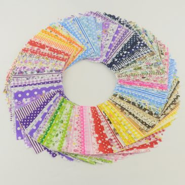 30pcs Charming Quilting Patchwork Fabric Bundle 3.9×3.9in