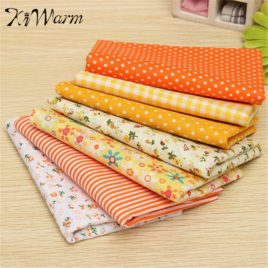 7pcs Yellow Series Quilting Cotton Patchwork 50x50cm