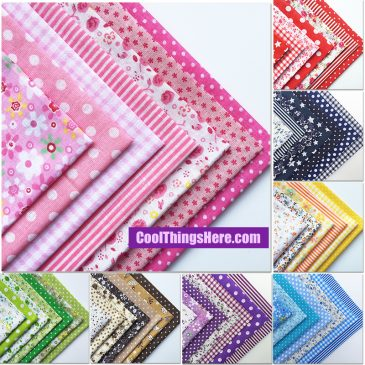 55pcs Cotton Quilting Patchwork Floral Pokadots Checkered 50x50cm