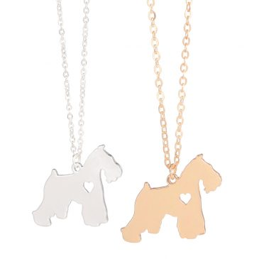 Cute Schnauzer Necklace Silver Gold Color