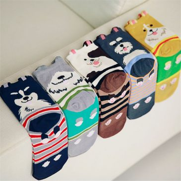 Human Schnauzer Puppy Socks for Women