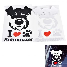 I Love Schnauzer Car Window Stickers Decals