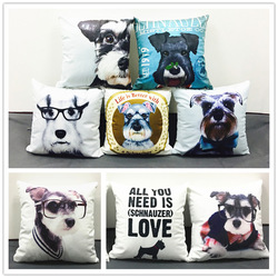 Cool Cute Schnauzer Cushion Cover