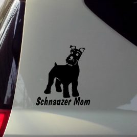 Cute Schnauzer Moms Car Motorcycle Decal